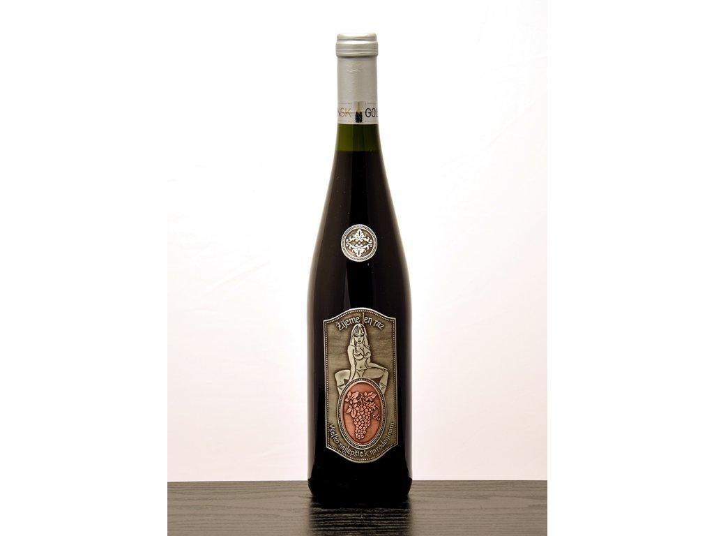 Rýnska flaša Žijeme len raz - biele víno