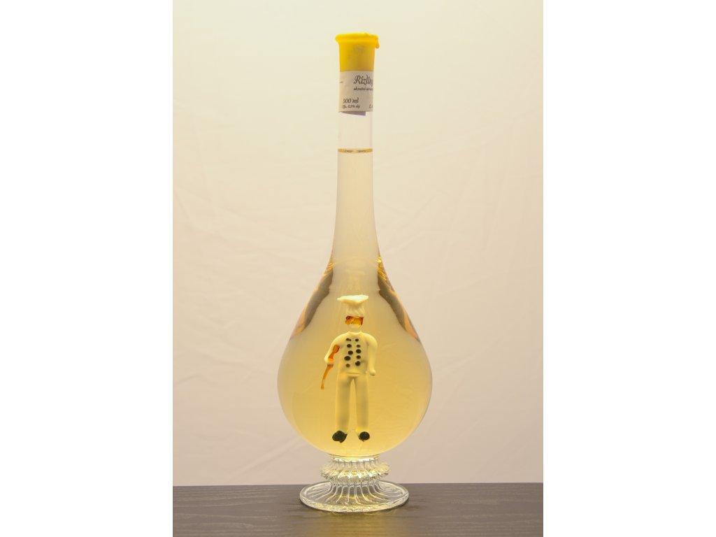 Ozdobná fľaša kvapka, s figúrkou kuchára