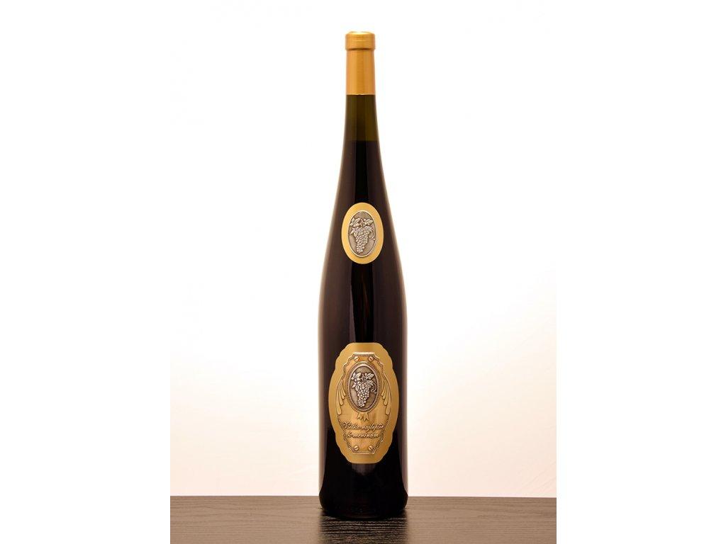 Rýnska flaša - zlatý dizajn k meninám - červené víno
