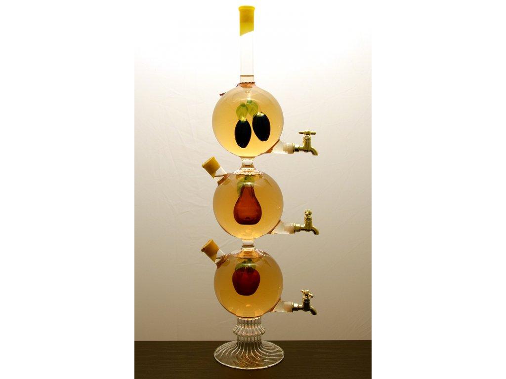 Vínna studňa s figúrou 3 guľe - ovocie