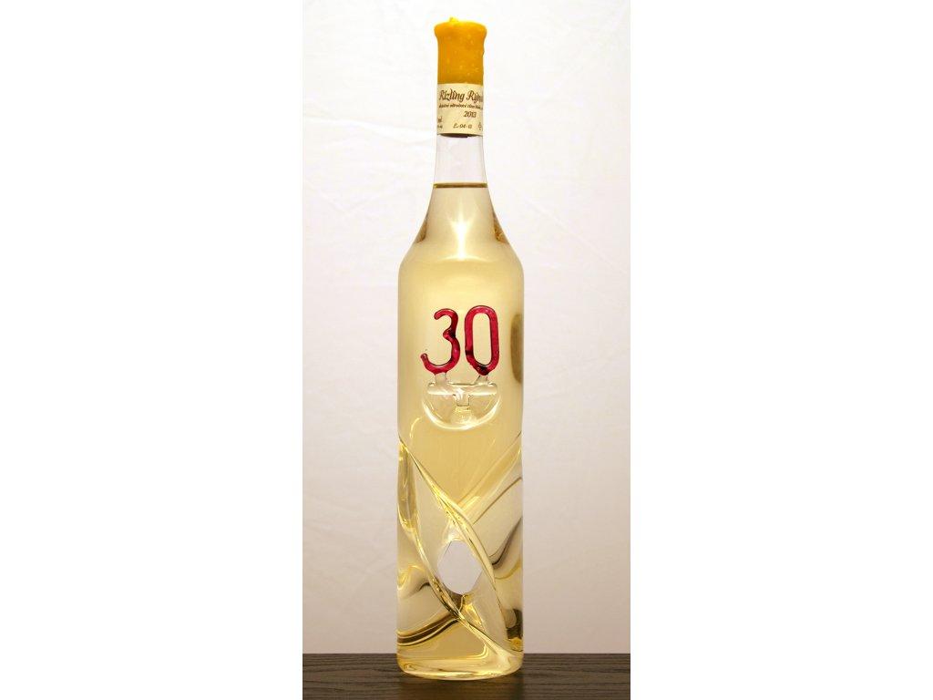 Točená fľaša s číslom
