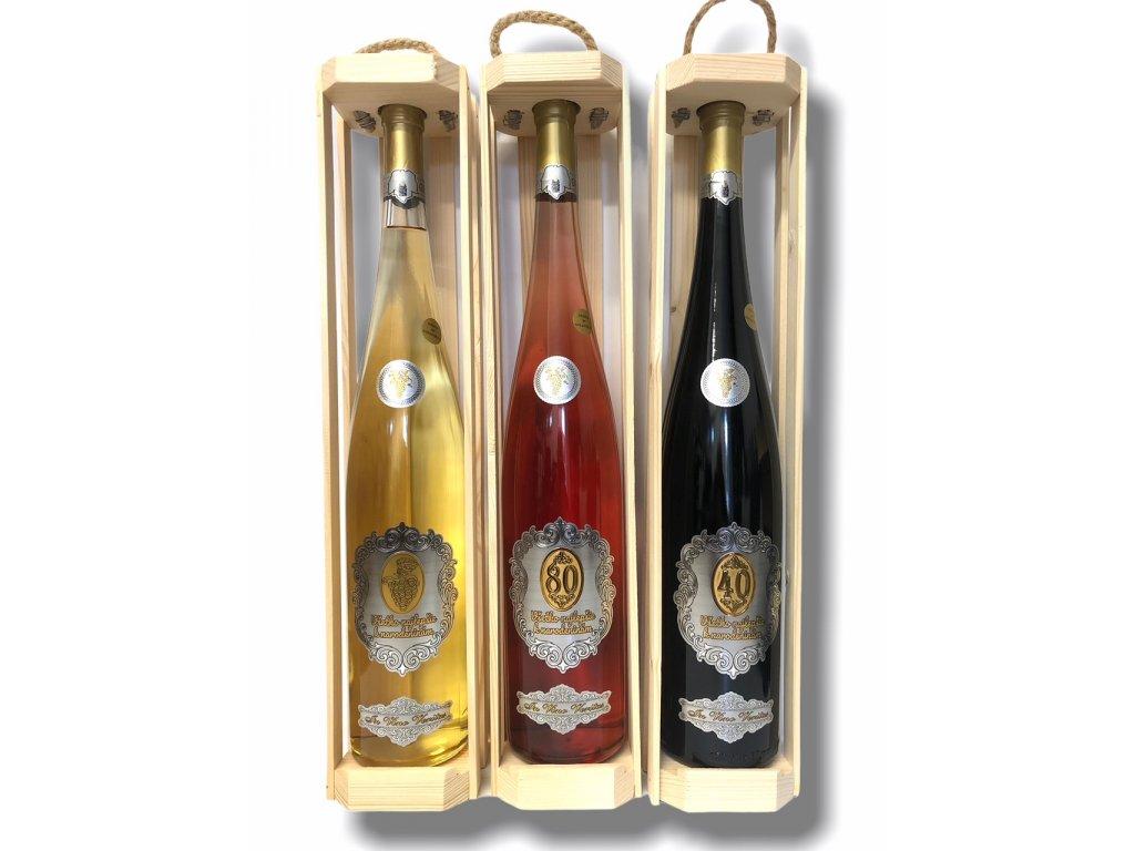 Darčekové víno rýnska fľaša K narodeninám 1,5 l
