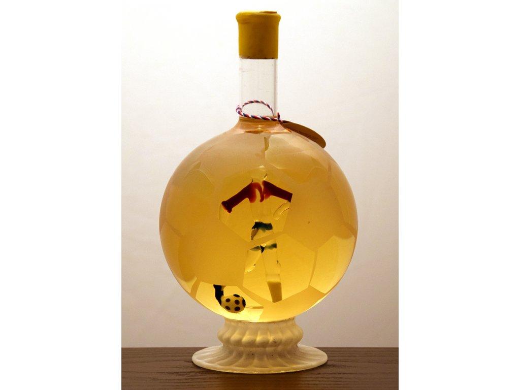 Futbalová lopta na sklenenej stopke