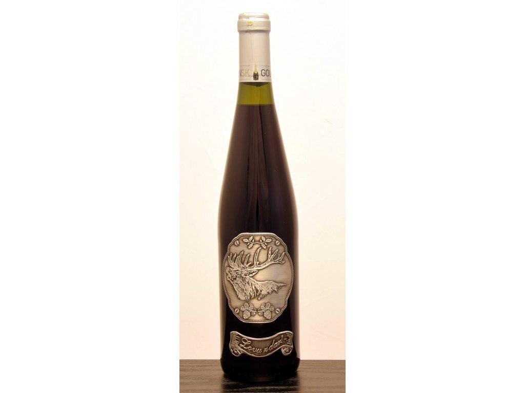 Rýnska fľaša skovovou etiketou, Jeleň 2 - biele víno