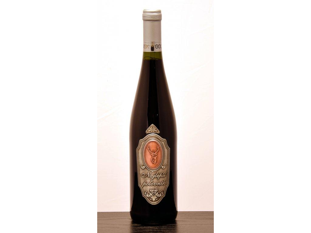 Rýnska fľaša Pre najlepšieho poľovníka - červené víno