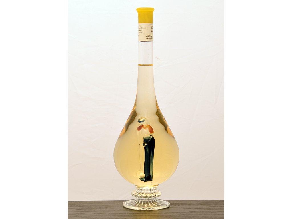 Ozdobná fľaša kvapka, figúrka Golfový hráč