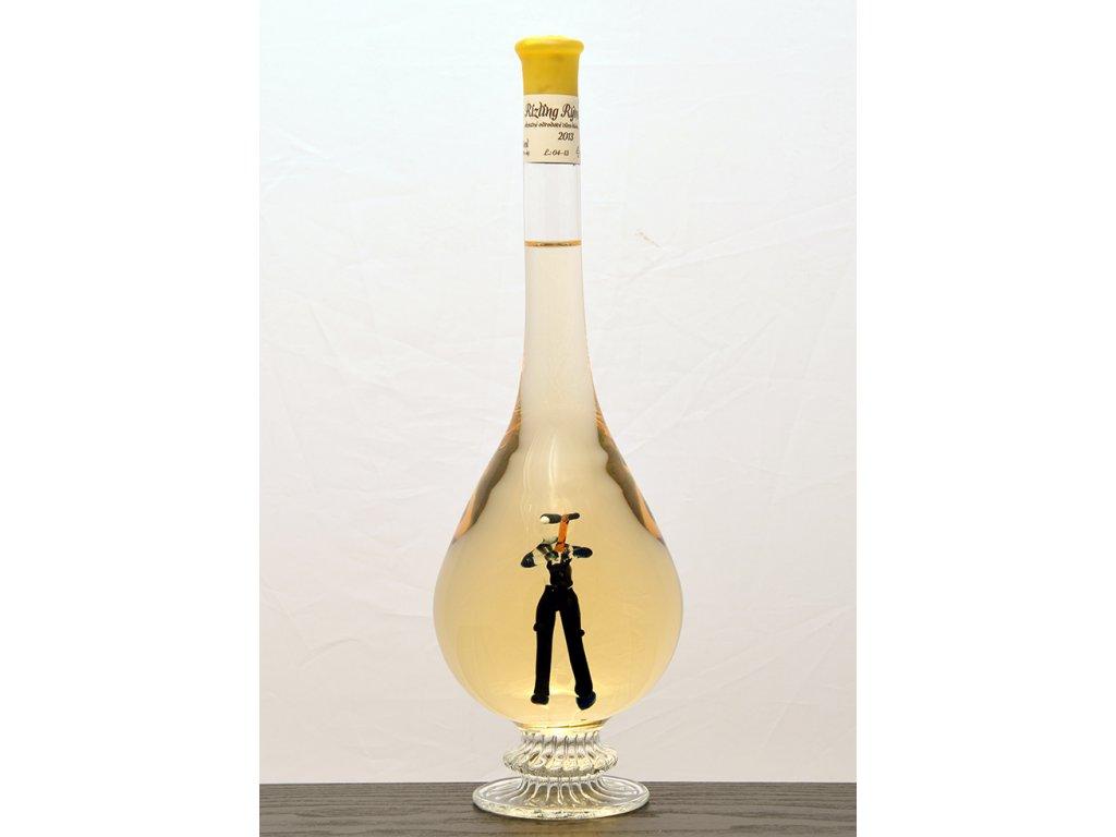 Ozdobná fľaša kvapka, figúrka Baník