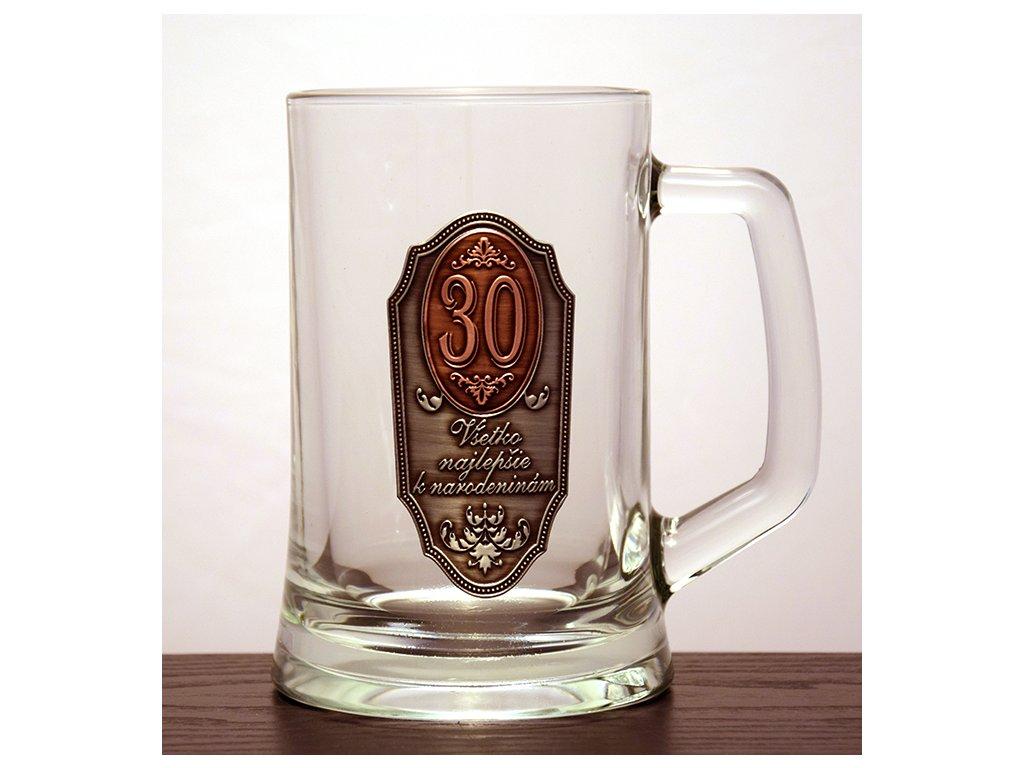 """Krígeľ Všetko najlepšie k narodeninám """"30"""""""