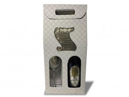 4. Darčekový set 1 1, cínová etiketa Pergamen, GRIGIO