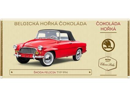 Belgická čokoláda horká Škoda Felicia TYP 994 Kód: 91-032