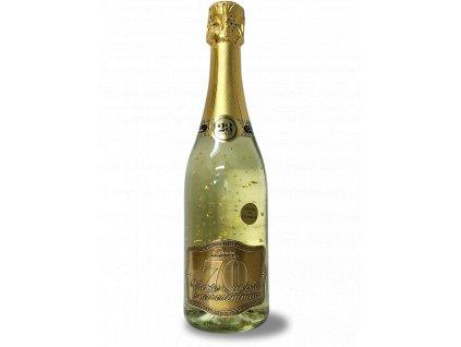 Všetko najlepšie k narodeninám 70 - Šumivé víno so zlatými lupienkami