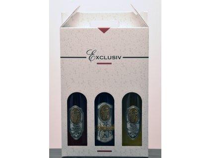 Darčekový set 3 fľaše s cínovou etiketou Všetko najlepšie