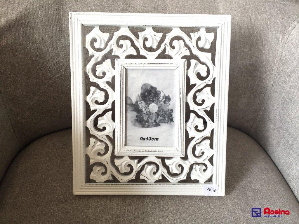 70906ef86 Fotorámik Biely Provence 28x24cm, rozmer fotky 9x13cm, 15,00€, TRE