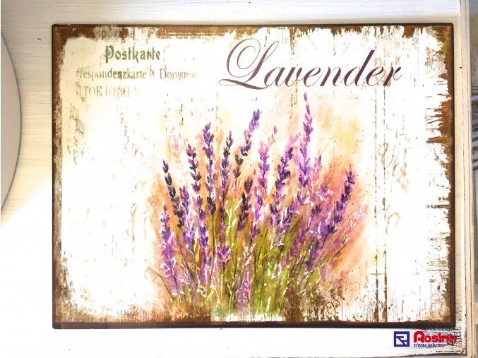 Tabuľka Lavender 33x25cm, 13,90€, 91389ART