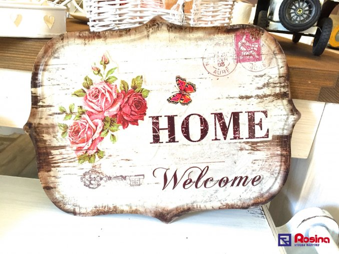 Tabuľka Welcome Home 33x24cm, 19,90€, 93325ART