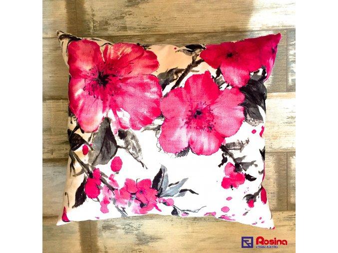 Vankúš kvety ružové 58x65cm, 24,00€