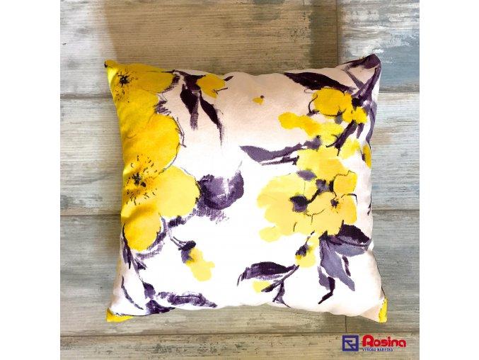 Vankúš Žltý kvet 40x40cm, 11,00€