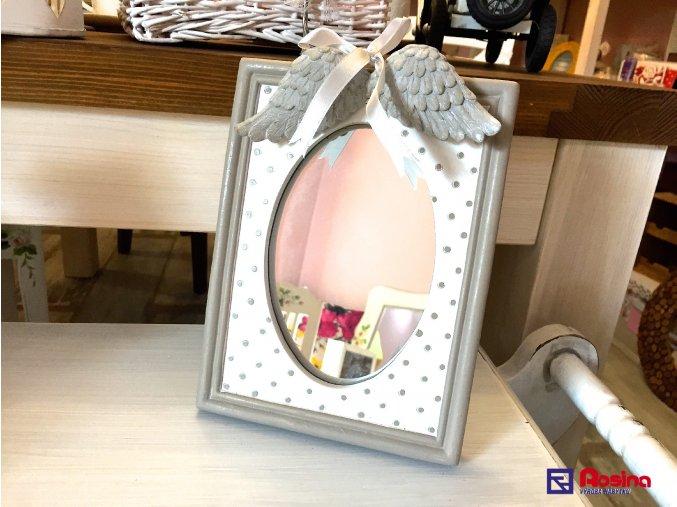 Bodkované zrkadielko s krídľami 21x16cm, 20,90€, 88728ART