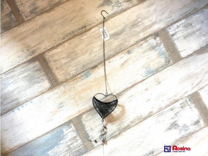 Záves Srdce + sviečka 80cm, 11,00€, 5666900TRE
