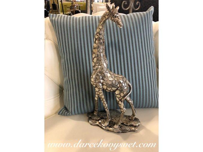 Soška Žirafa strieborná moderná ART, 35,5 cm, 29,90€