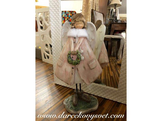 Soška Ružový Anjelik 56cm, 49,00€, 235986TRE