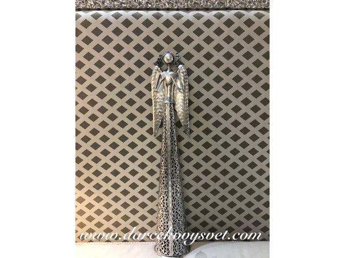 Soška Kovový Anjel so srdcom hore ruky 53cm, 26,00€, 015BNM0030HAR