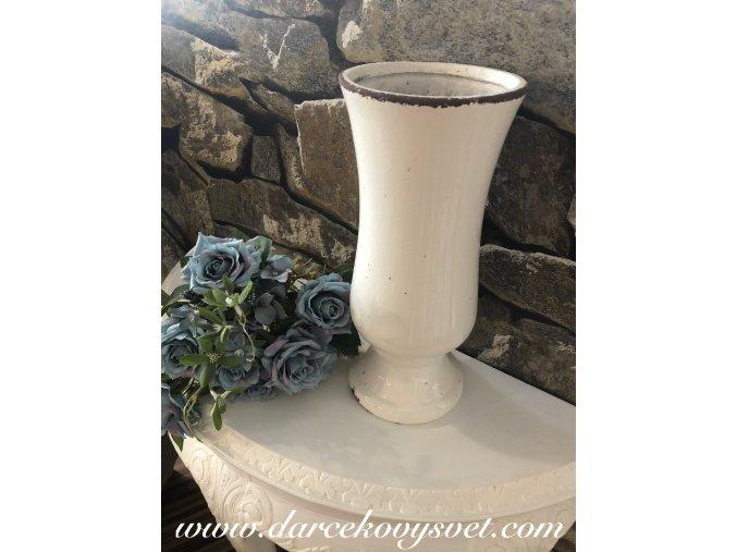 Biela váza Oval 35,5cm, 69,00€, TRE
