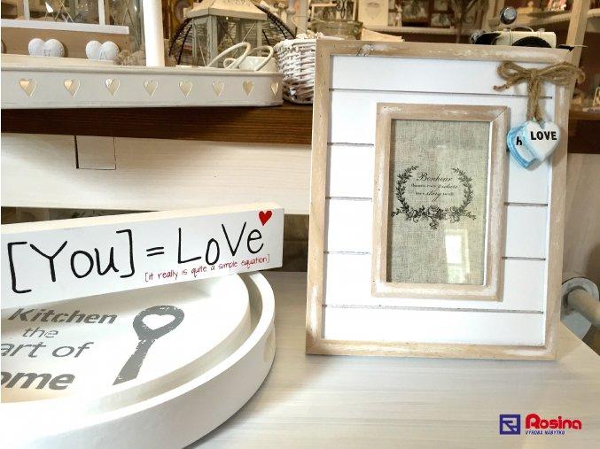 Fotorámik Bonheur Love stredný 20x24,5cm, 10,50€, 87067ART