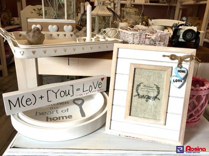 Fotorámik Bonheur Love veľký 27x27cm, 15x10cm, 12,90€, 87068ART