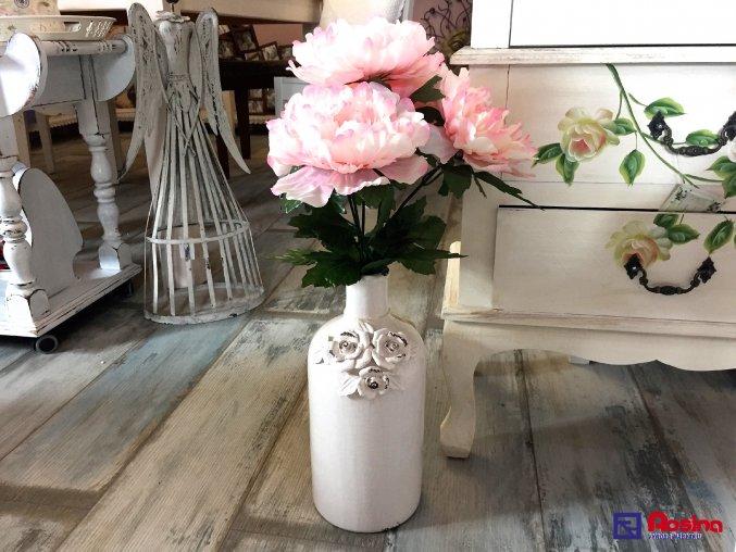 Biela Váza Provence s ružami