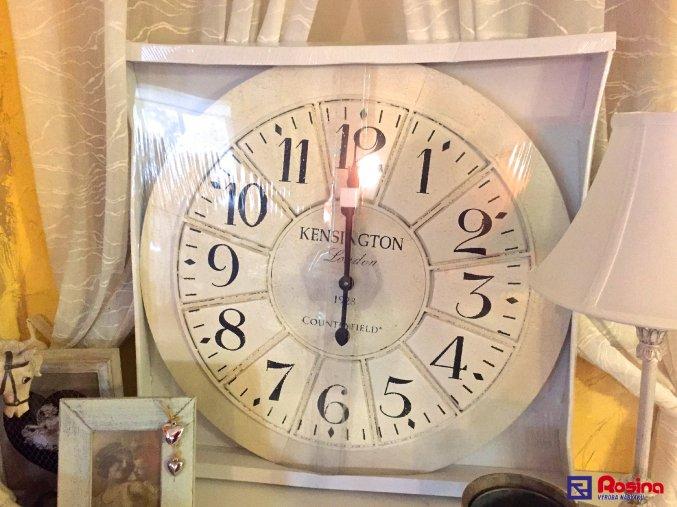 Kovové biele hodiny KENSINGTON 70x70cm, 95,70€, 735816TRE