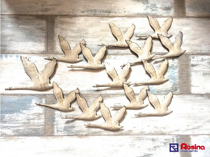 Kovový obraz Húsky letiace 89x58cm, 112,00€, 1099000TRE