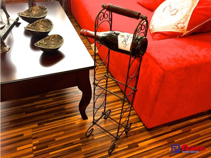 Kovový stojan na vína 6 vín, 75cm, 34,00€, 1672500TRE