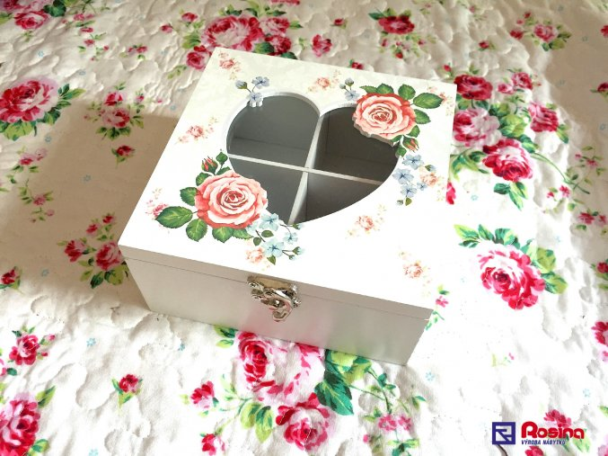 Krabička na čaj Romantic Rose 16x16cm, 22,30€, 97891ART