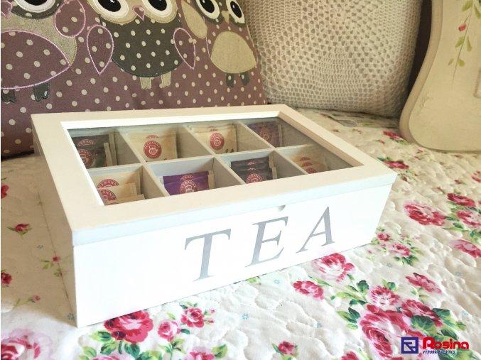 Krabička na čaj TEA biela 18x28cm, 22,90€, 93360ART