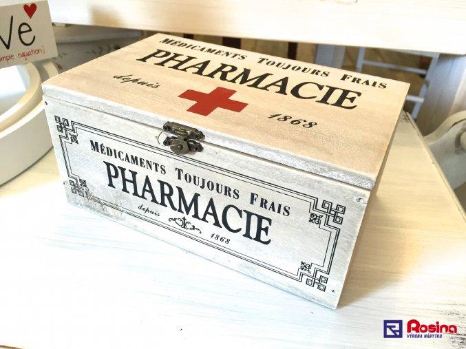 Krabička na lieky PHARMACIE 22x14 cm, 14,30€, 74669ART