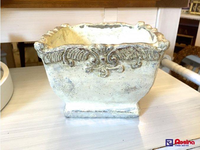 Kvetináč Antic strieborný 18x18x13cm, 12, 00 €, 73271ART
