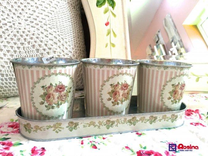 Kvetináče 3 Ružičky 30cm, 12,60€, 90461ART