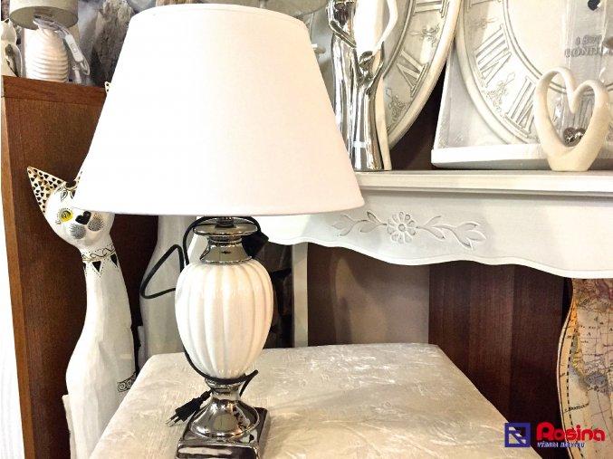 Lampa Luxury bielo strieborná 51cm, 69,00€, 32.106.03TRE