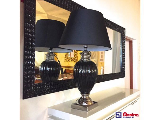 Lampa Luxury čierna 139,00€ + cylinder 25,00€ , 78cm, TRE