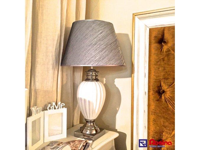Lampa Luxury strieborno biela veľká 78cm, 139,00€, 32.105.03TRE