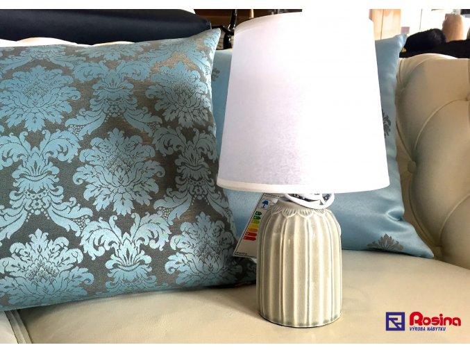 Lampička Romantic šedá malá 28,5cm, 26,00€, 8095200TRE