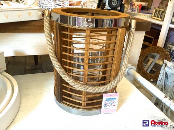 Moderný drevený Lampáš ovál stredný 25cm, 44,90€, 90270ART