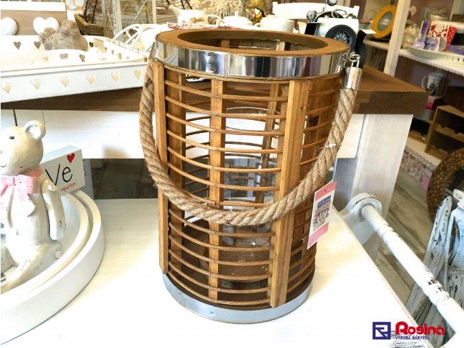 Moderný drevený Lampáš ovál veľký 30cm, 49,00€, 90269ART
