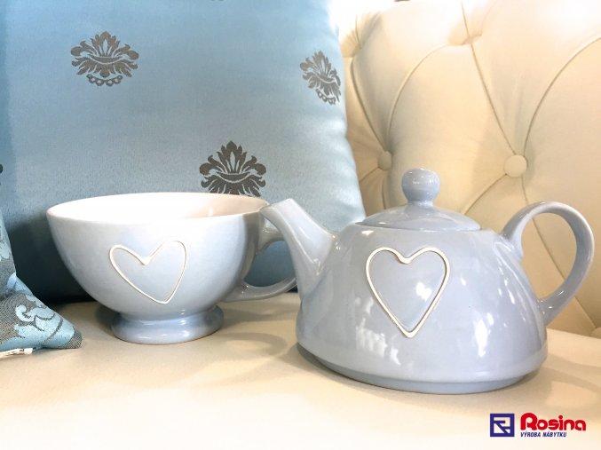 Modrý čajník so srdiečkom 18cm, 18,90€, 35243TRE JPG