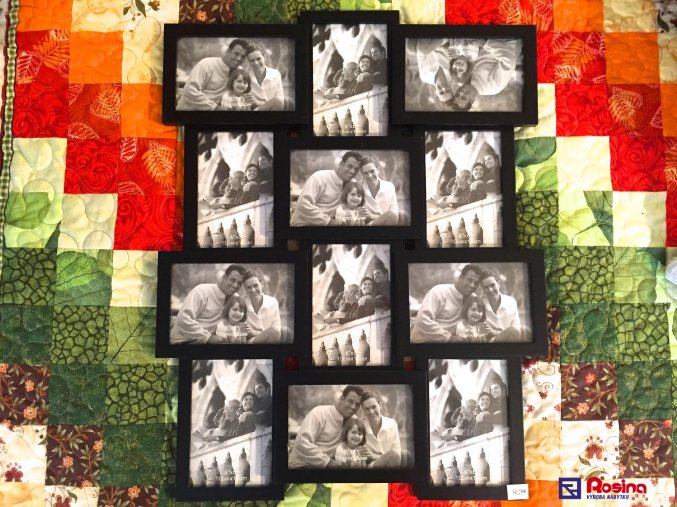 Rodinný fotorámik čierny veľký, 57x44,3cm, 42,90€, 15x10cm 6x, 10x15cm 6x, 86626ART