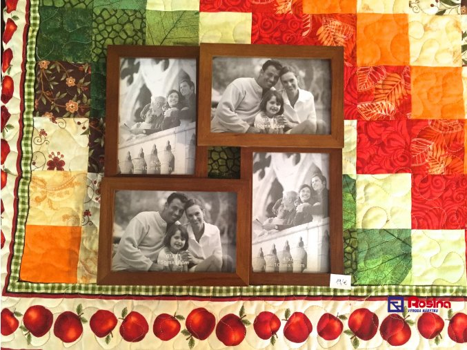 Rodinný fotorámik drevený hnedý malý 28,5x28,5cm, 19,00€, 10x15cm 2x, 15x10cm 2x,68264ART