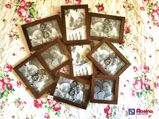 Rodinný fotorámik hnedý na stenu veľký 48x53cm, 34,90€, 86628ART