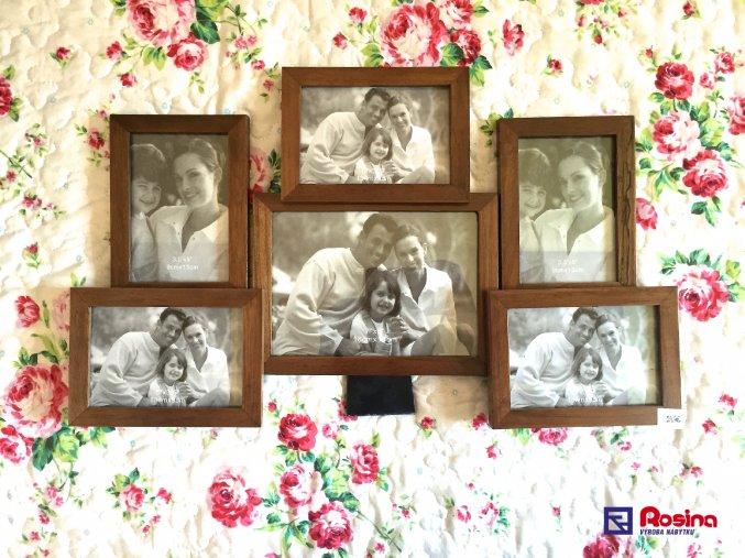 Rodinný fotorámik hnedý stredný 49x30cm, 24,00€, 86630ART