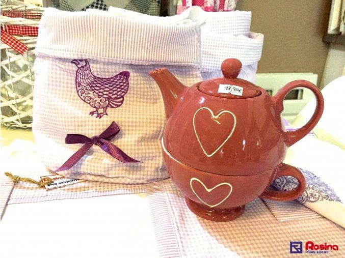 Ružový čajník so srdiečkom 18,90€, 35242TRE